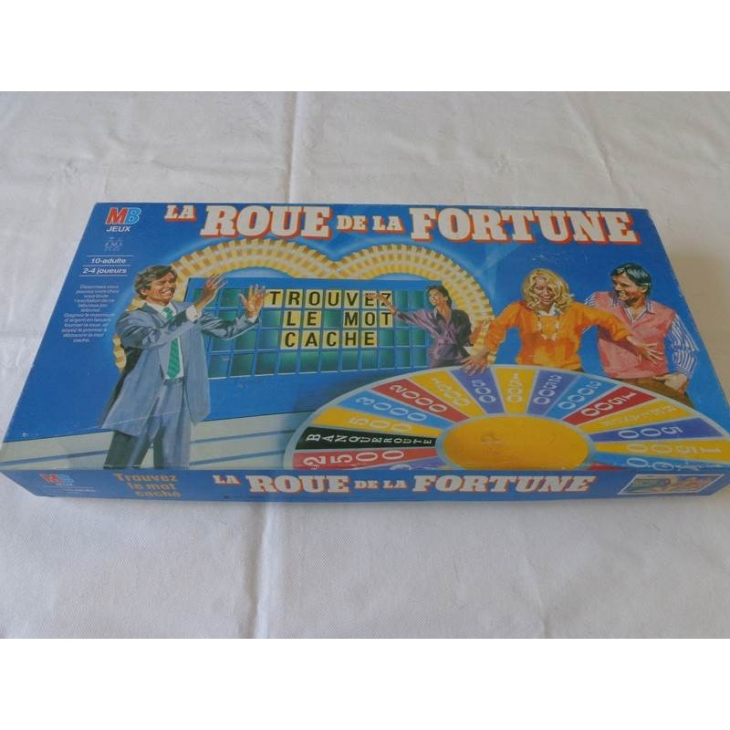 la roue de la fortune jeu mb 1987 jouets r tro jeux de soci t jeux vid o livres objets vintage. Black Bedroom Furniture Sets. Home Design Ideas