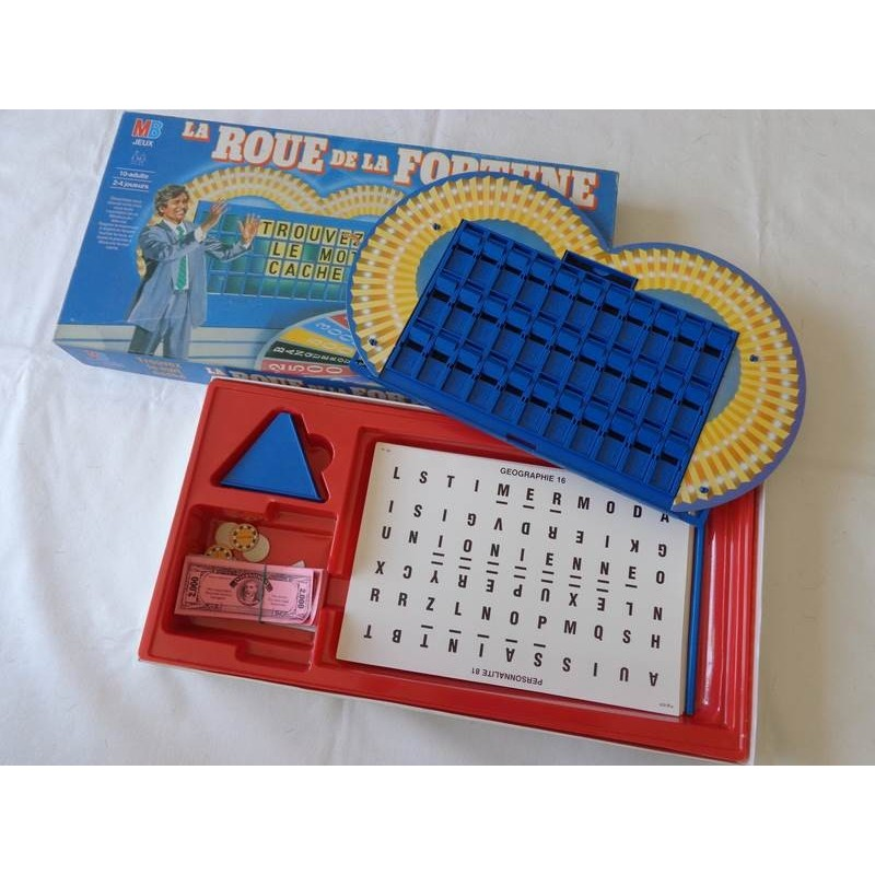 la roue de la fortune jeu mb 1987 jouets r tro jeux de soci t jeux vid o livres objets vintage. Black Bedroom Furniture Sets. Home Design Ideas