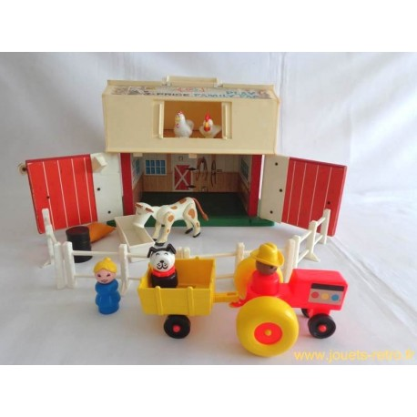 play family farm ferme fisher price 1967 jouets r tro. Black Bedroom Furniture Sets. Home Design Ideas