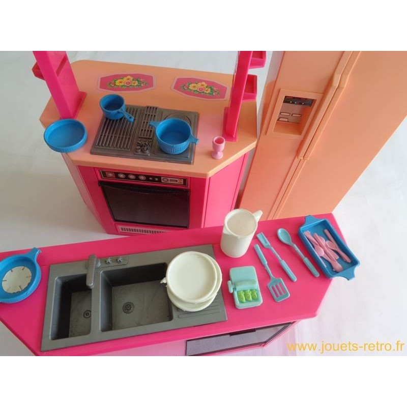 cuisine de barbie mattel 1986 jouets r tro jeux de soci t jeux vid o livres objets vintage. Black Bedroom Furniture Sets. Home Design Ideas