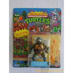 Leonardo Sword Slicin' - Wacky Action 1990 Playmates - TMNT Les Tortues Ninja