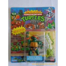 Rock 'N Roll Michaelangelo - Wacky Action 1989 Playmates - TMNT Les Tortues Ninja