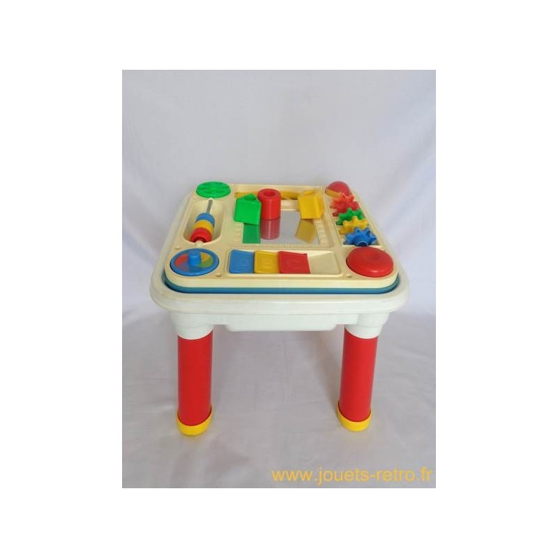table d 39 activit s fisher price 1992 jouets r tro jeux de soci t jeux vid o livres objets vintage. Black Bedroom Furniture Sets. Home Design Ideas
