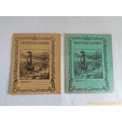 Lot de 2 protège-cahiers anciens