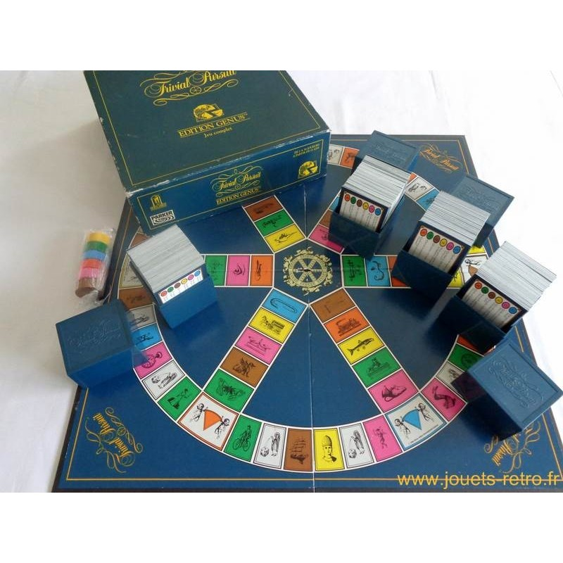 trivial pursuit genius jeu parker 1992 jouets r tro. Black Bedroom Furniture Sets. Home Design Ideas