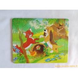 Puzzle Rox et Rouky