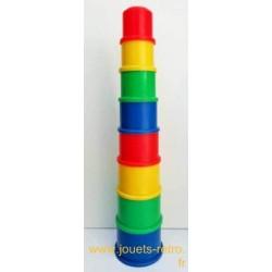 Tour de cubes à emboiter