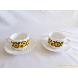 Lot de 2 ensembles tasses Arcopal Lotus