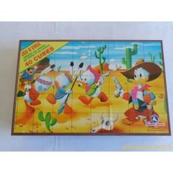 Boite 40 cubes puzzle Disney France Jouets