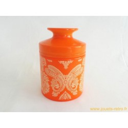 Pot orange vintage