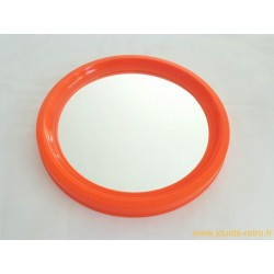 Miroir rond orange vintage