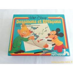 Dessinons et Effaçons Walt Disney - jeu Nathan 1981