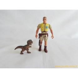 Jurassic Park - Robert Muldoon + bébé Tyrannosaure figurine Kenner 1993