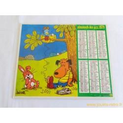 Almanach des PTT 1979 illustré par Barberousse