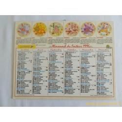 Almanach du facteur 1996 Le Zodiaque