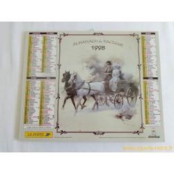 Almanach du facteur Voitures à chevaux 1998