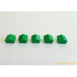 Monopoly Lot de 5 maisons vertes Modèle 2