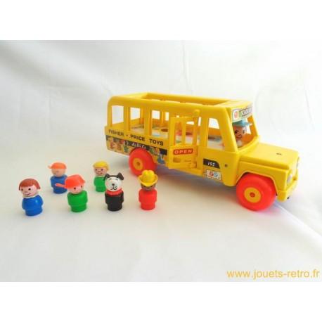 Bus scolaire Fisher Price 1976 - jouets rétro jeux de société jeux ...