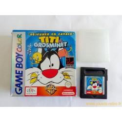 """Titi et Grominet """"déjeuner en cavale"""" - Jeu Game Boy Color"""
