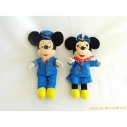 Peluches Disney vintage Mickey et Minnie Plane Crazy