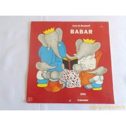 Calendrier Babar 1991