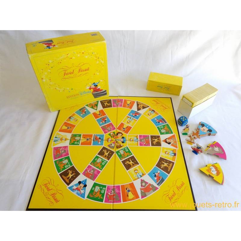 trivial pursuit dition disney jeu parker 1992 jouets. Black Bedroom Furniture Sets. Home Design Ideas