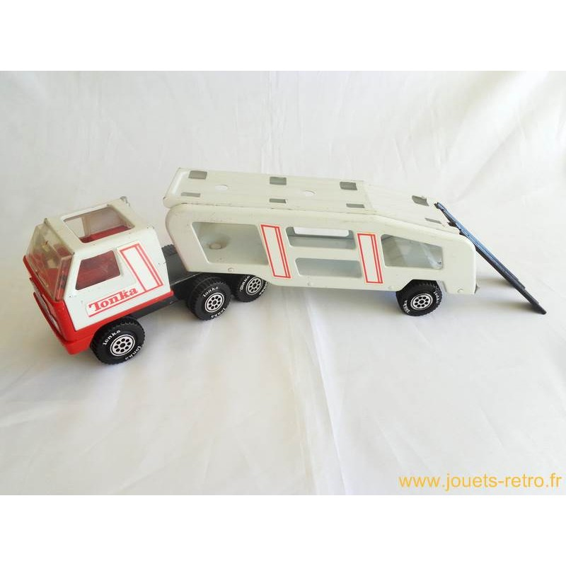 camion porte voiture en t le tonka 1978 jouets r tro. Black Bedroom Furniture Sets. Home Design Ideas