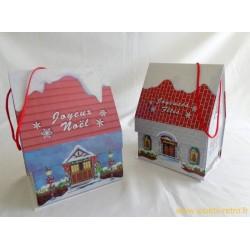 Boite cadeau maison de Noël