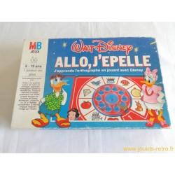 Allo j'épelle Disney - jeu MB 1990