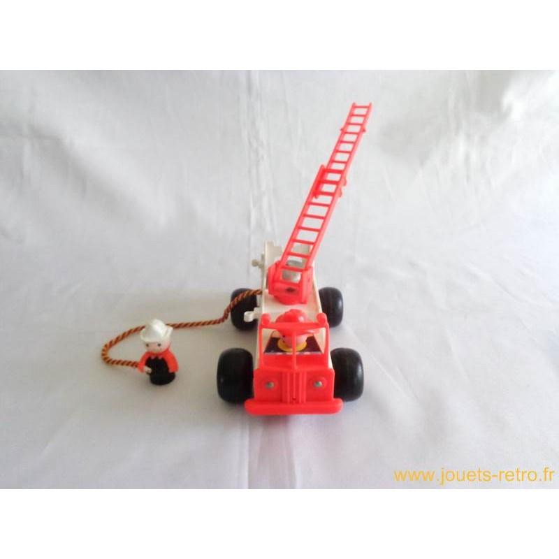 camion de pompiers fisher price 1968 jouets r tro jeux de soci t jeux vid o livres objets vintage. Black Bedroom Furniture Sets. Home Design Ideas