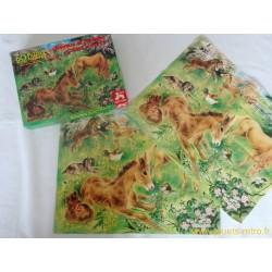 Chevaux et poulains dans les prés - Puzzle Nathan 1978