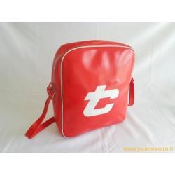 Sac sport besace vintage simili rouge