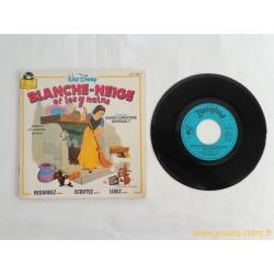 Blanche Neige et les 7 nains - 45T Livre disque vinyle