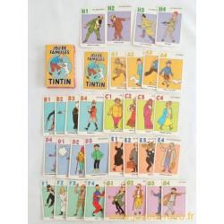 Jeu de familles Tintin - Carta Mundi 1993