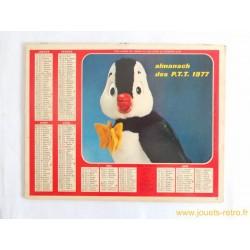 Almanach des PTT 1977 Nestor le Pingouin