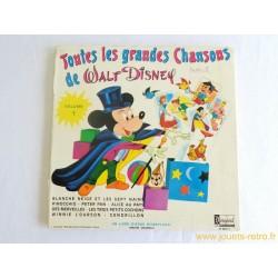 Toutes les grandes chansons de Walt Disney volume 1 Livre disque 33 T