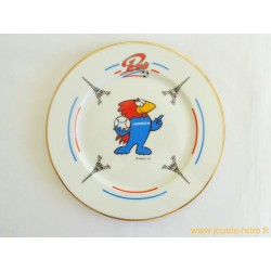 Assiette porcelaine Footix France 98 Paris