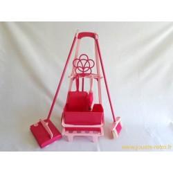 Chariot ménage rose