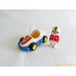 Voiture de course + pilote Playmobil 1 2 3
