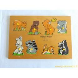 Puzzle en bois bébés animaux Fisher Price 1982