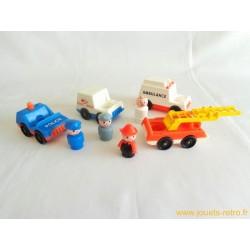 Les voitures de service Fisher Price set complet