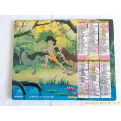 Almanach du facteur 1992 Le Livre de la Jungle coloriage