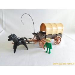 Chariot baché Playmobil System 1976