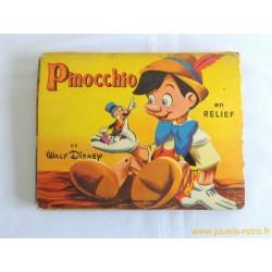 Pinocchio Walt Disney livre pop up - 1957