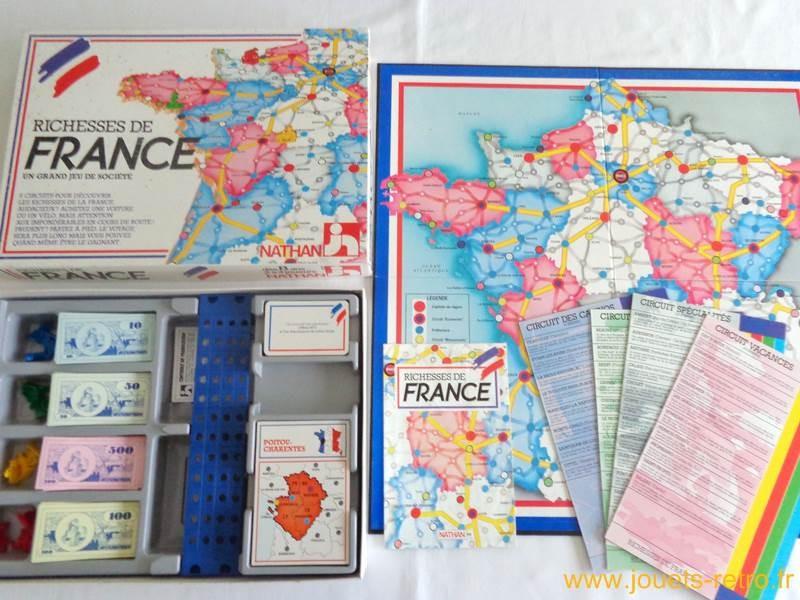 Richesses de France - Jeu Nathan 1986 - jouets rétro jeux de ...