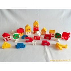 Petites maisons jeu de construction
