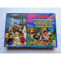 "2 puzzles Kiki ""Les petits singes calins"""