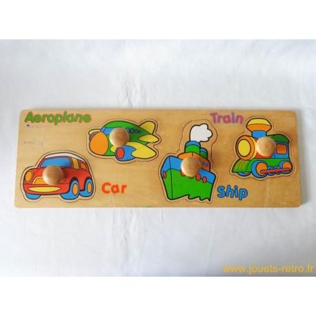 Puzzle transport en bois