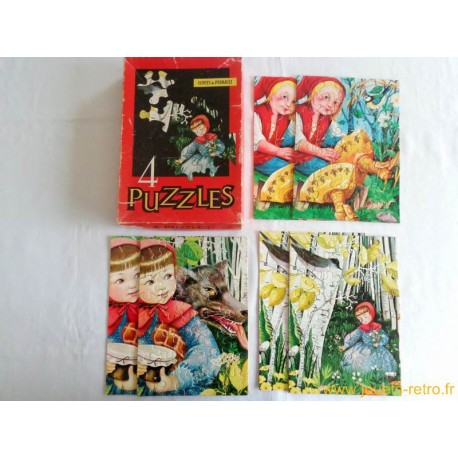 3 Puzzles Contes de Perrault Willeb