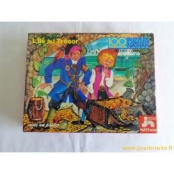 """""""L'île au trésor"""" puzzle Nathan 1977"""